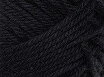 black—Patons cotton blend 8 ply