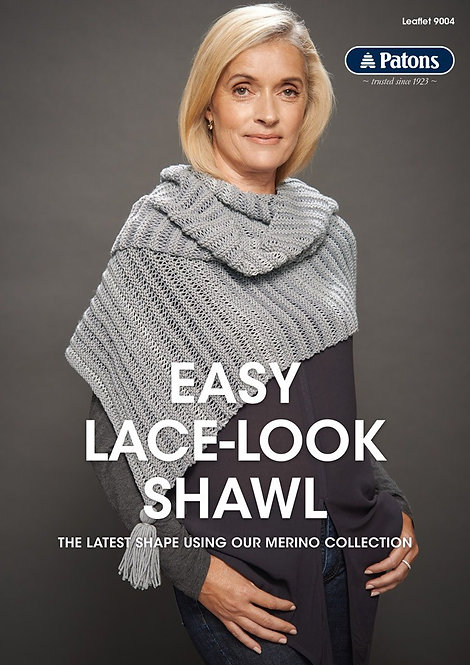 Easy Lace-Look Shawl 9004 by Patons