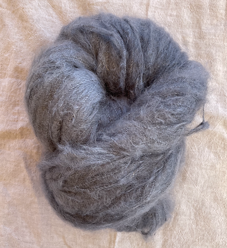 Grey Brushed Mohair 12 ply—Mollydale Yarns