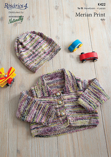 Cropped Jacket & Hat - Rosarios 4 K422