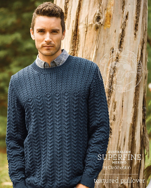 Men's Textured Pullover by Cleckheaton pattern 462