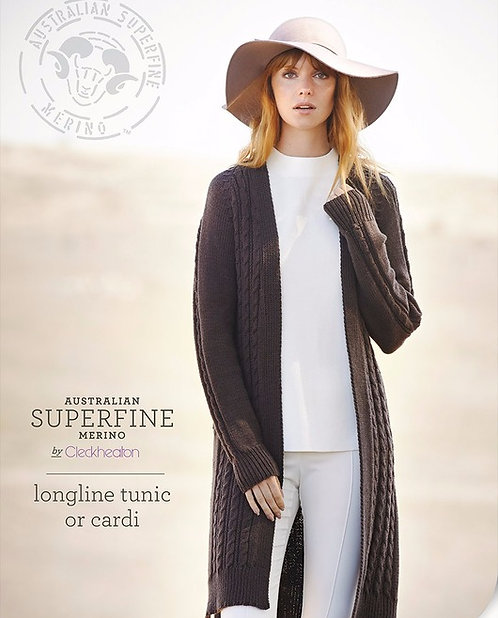 longline tunic or cardi by Cleckheaton pattern 450