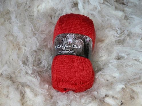 bright red 4 ply merino wool