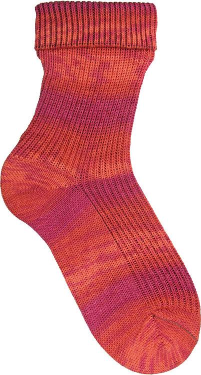 Red Pink Opal Sock Yarn pre-pattern 4 ply
