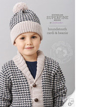 houndstooth cardi & beanie 456 by Cleckheaton