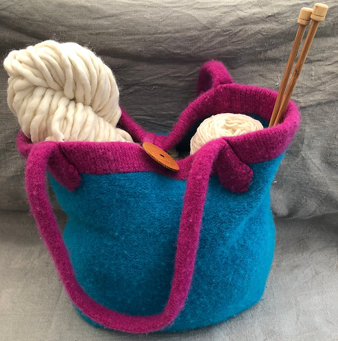 2 tone Mollydale Felted Bag Kit