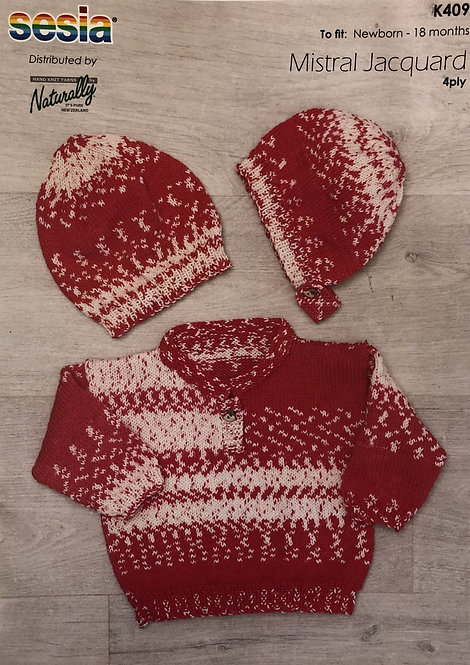 Sweater, Hat & Bonnet - Sesia K409