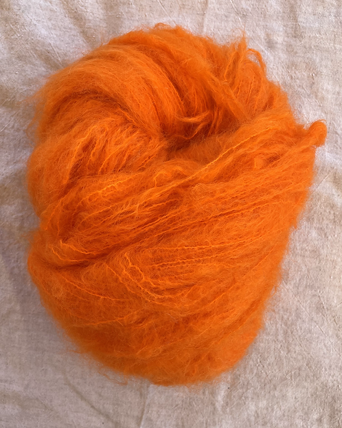 Citrus Brushed Mohair 12 ply—Mollydale Yarns
