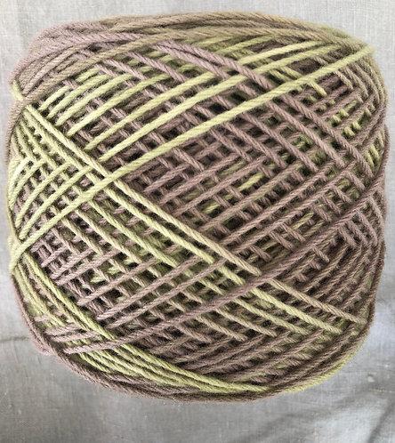 Green/Brown—8 ply Lambs Wool 50g