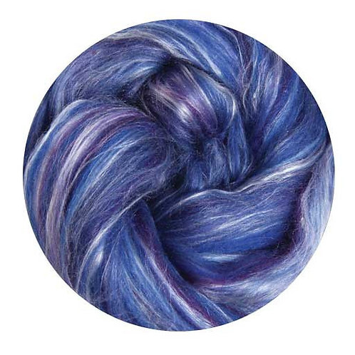 damson—Ashford Silk/Merino slivers