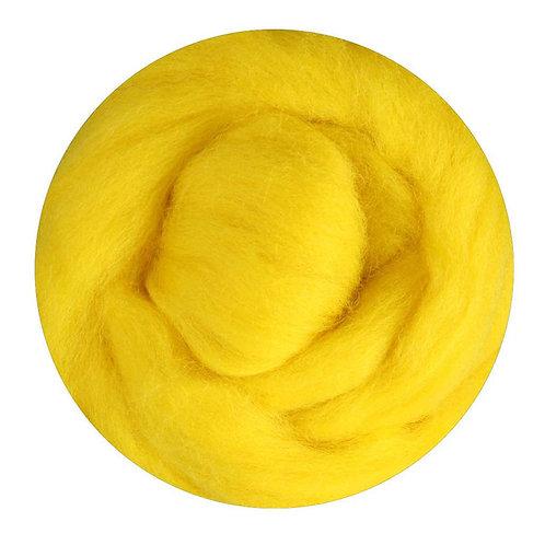 yellow—Ashford Merino slivers