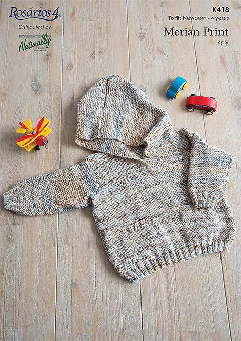 Hooded Sweater - Rosarios 4 K418