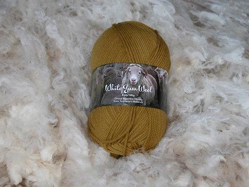 sedge 8 ply merino white gum wool