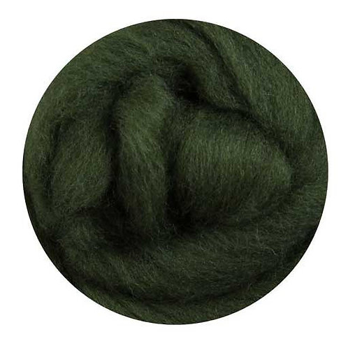 fern green—Ashford Merino slivers