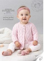 swing jacket & headband 458 by Cleckheaton
