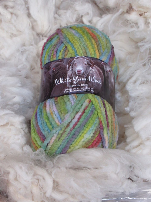 White Gum Wool Wildflower—Bouclé 12 ply