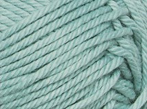 frosty green—Patons cotton blend 8 ply