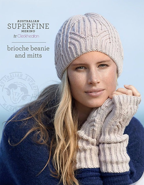 Brioche beanie and mitts by Cleckheaton 428