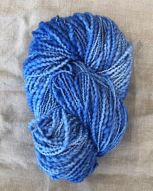 Electric Blue—Merino Slub 12 ply 100g