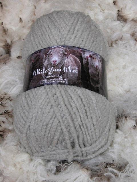 White Gum Wool Gum Grey—Bouclé 12 ply
