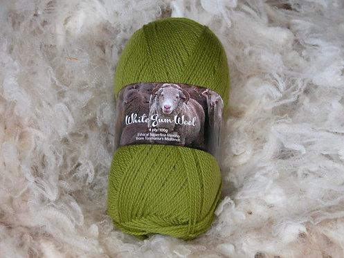 green 4 ply merino wool