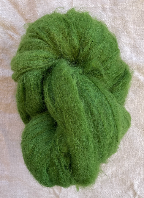 Green Brushed Mohair 12 ply—Mollydale Yarns