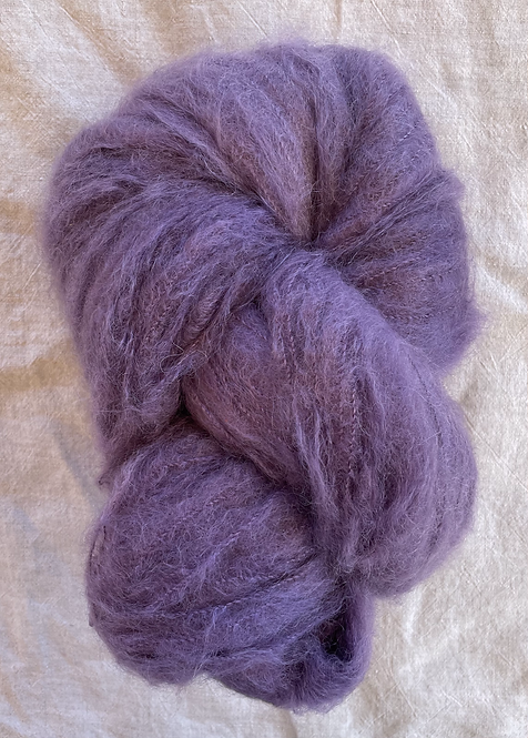 Lavender Brushed Mohair 12 ply—Mollydale Yarns