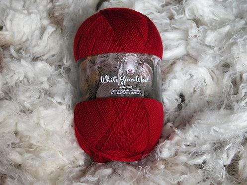 red 4 ply merino wool