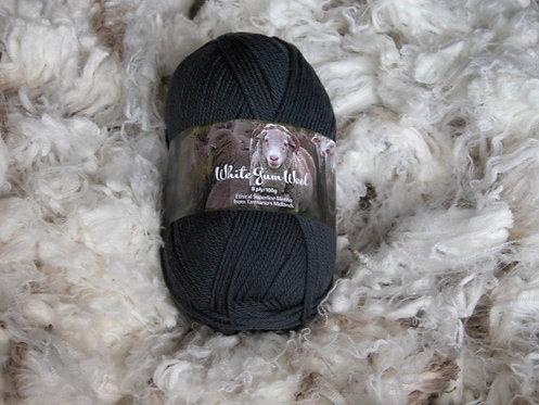 dark grey 8 ply merino white gum wool