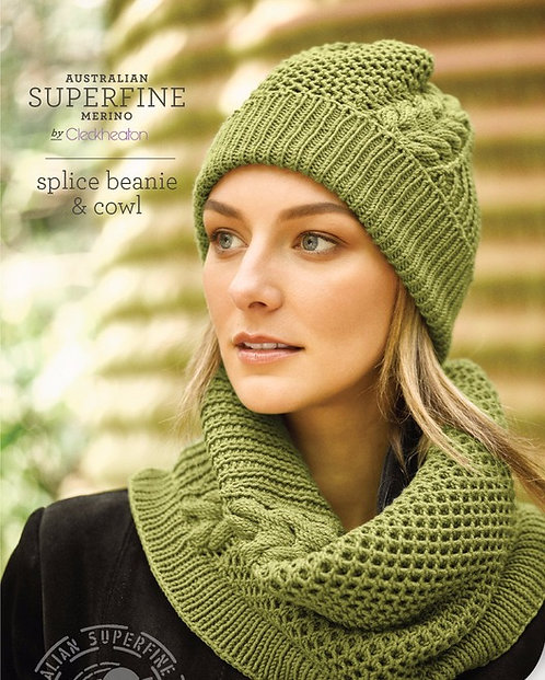 Splice Beanie & Cowl by Cleckheaton pattern 464