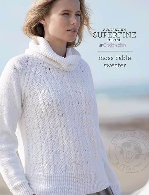 Moss Cable Sweater by Cleckheaton 429