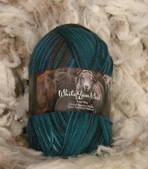 multi blue 4 ply merino wool