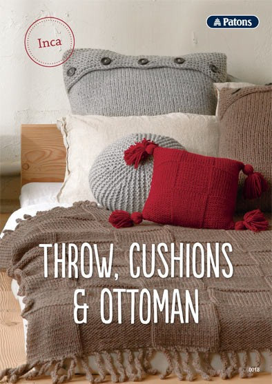 Patons Throw, Cushions & Ottoman Leaflet
