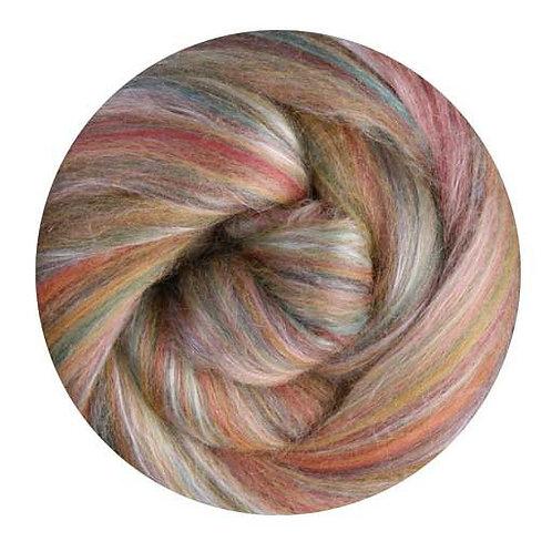cinnamon—Ashford Silk/Merino slivers