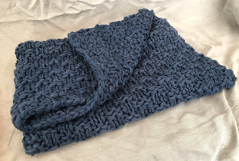 Chunky Double Moss Throw pattern
