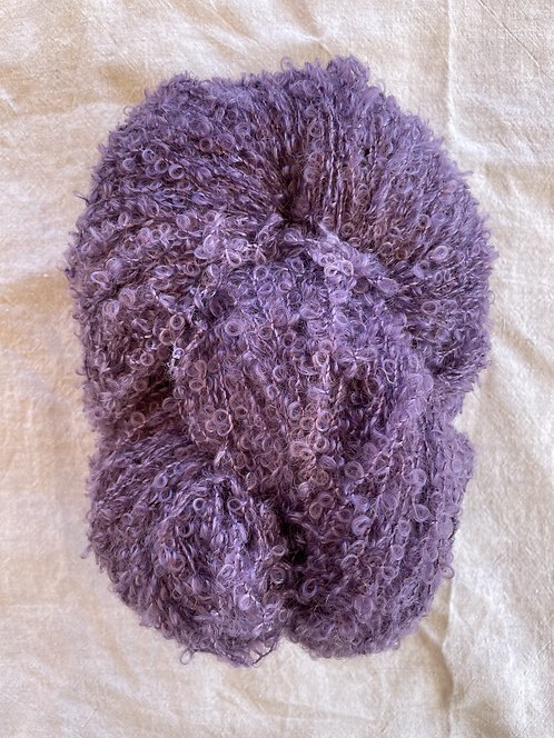 Lavender Boucle Mohair 12 ply—Mollydale Yarns