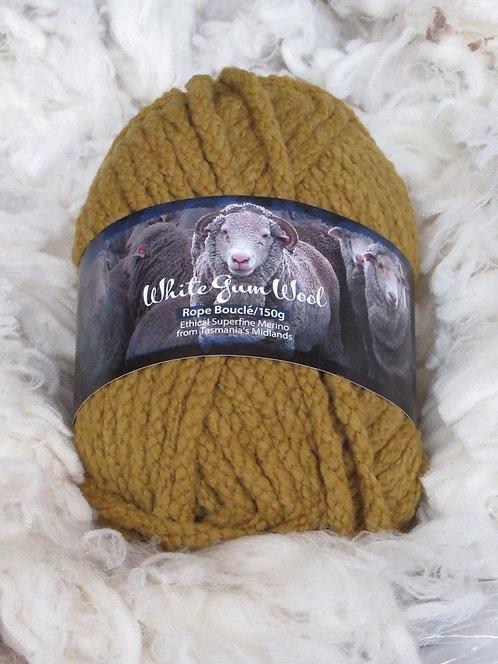sedge boucle rope yarn white gum wool