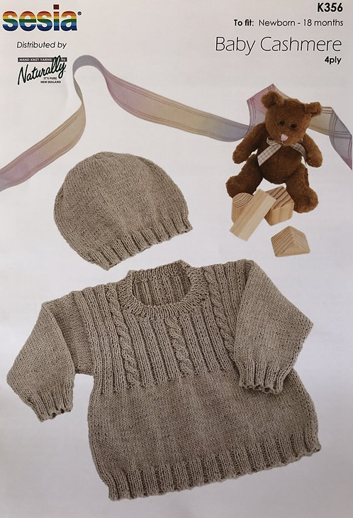 Sweater & Hat - Sesia K356