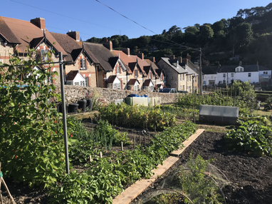 Allotments, fishermens cottages and Bay View