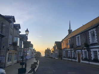 Fore Street at dawn