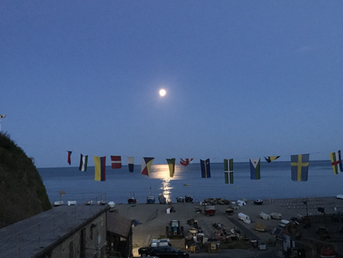 Regatta Flags and a moonlit sea