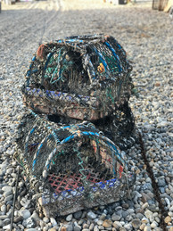 Traditional crab pots in daily use