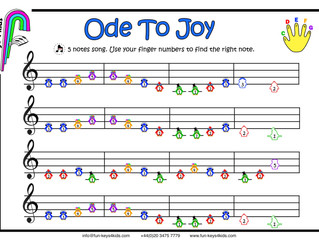 Learning the song 'Ode to Joy' by Beethoven