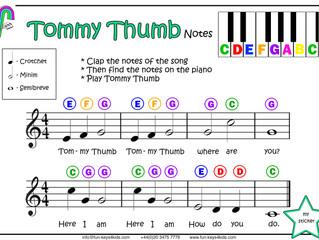 Pre-School Piano - Play Tommy Thumb!