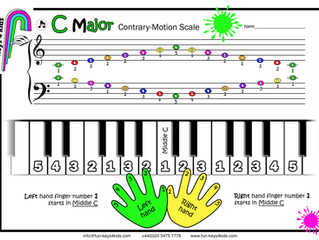 C Major Scale - Contrary Motion 💚