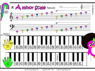 Two minor Scales: A minor and D minor