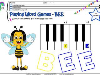 Little Bee's Spelling Bee game