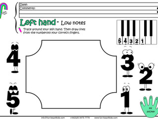 Left Hand Fingers for Piano