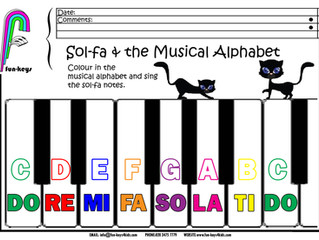 Sol-Fa Notes and the Musical Alphabet