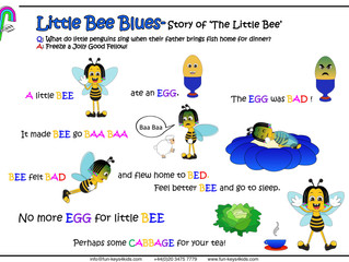 Little Bee Blues. Piano Word games!